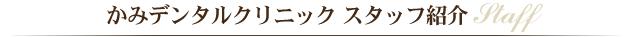 かみデンタルクリニック スタッフ紹介         STAFF